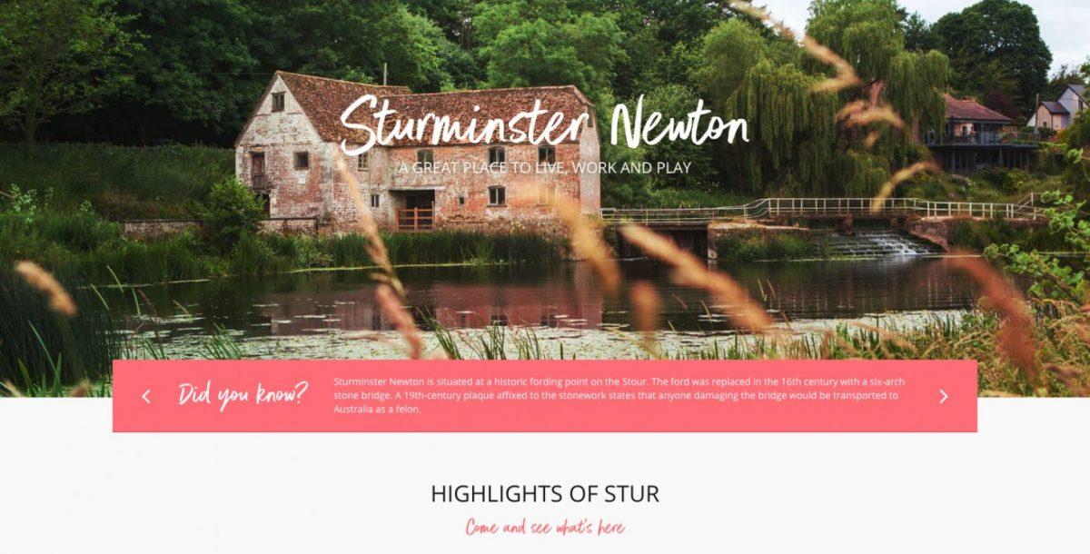 Sturminster Newton-New website launch